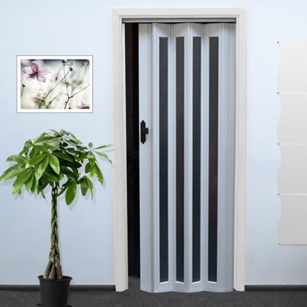 Porte accordeon pas cher for Decoration porte aluminium